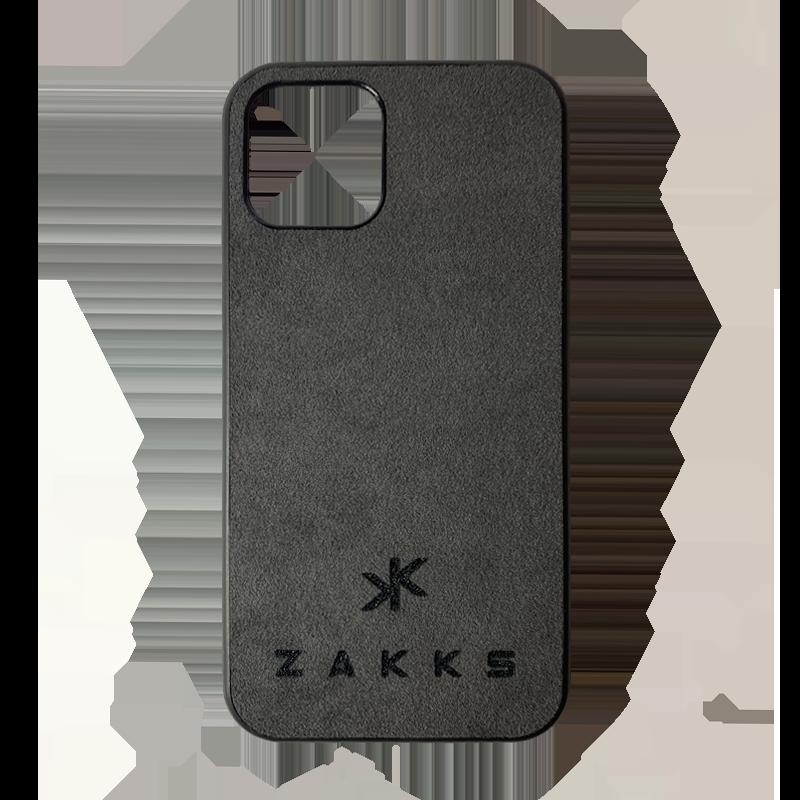 Funda ZAKKS iPhone 12 Pro Max alcántara oscura