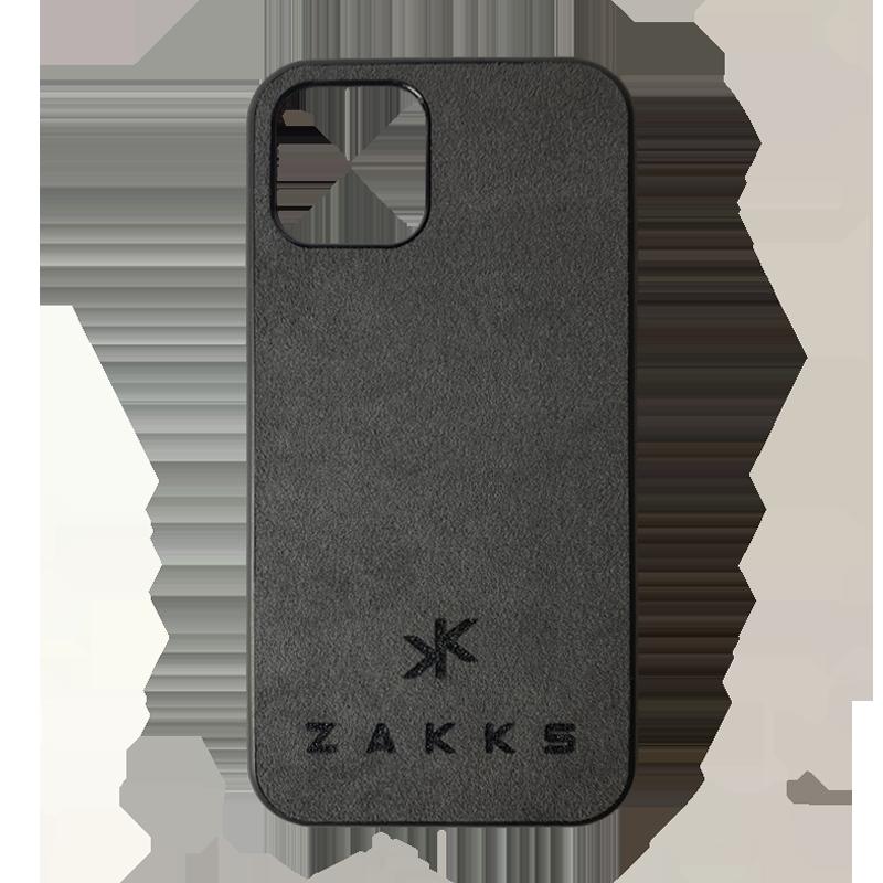 Funda ZAKKS iPhone 12 Mini Alcántara oscura
