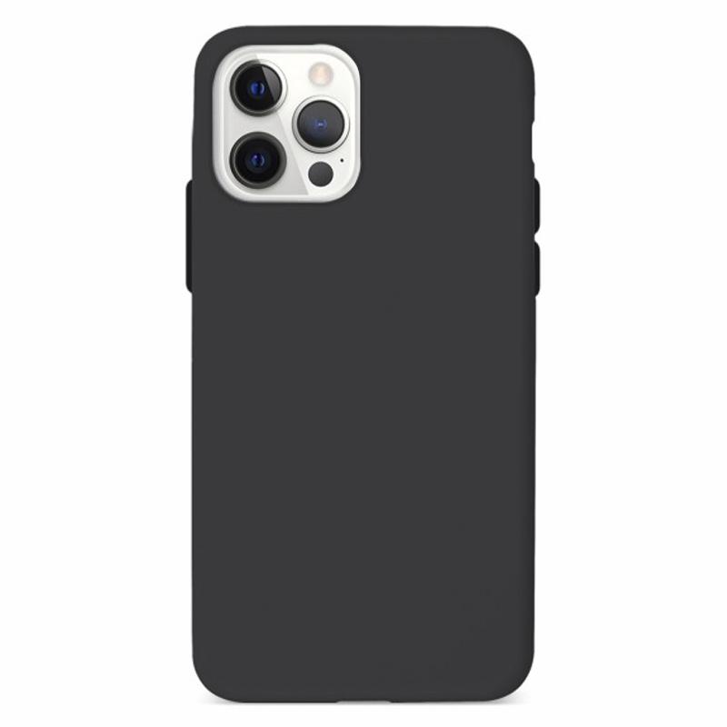 Funda Silicona Suave Negra iPhone 12/12 Pro