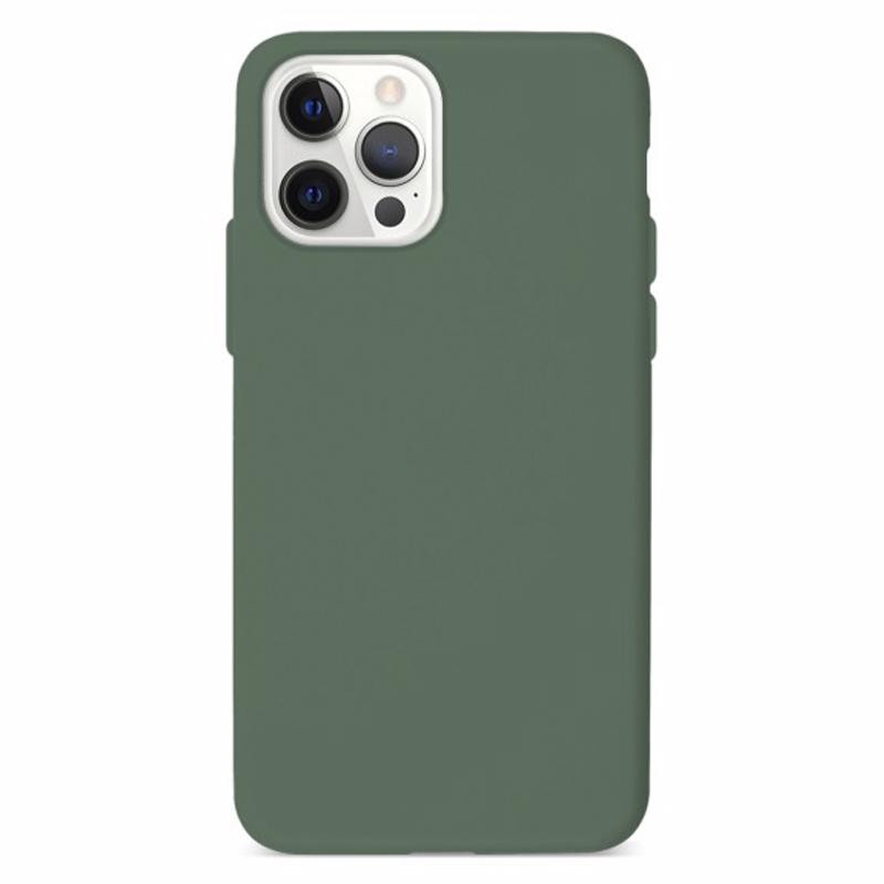 Funda Silicona Suave Verde<br>iPhone 12/12 Pro
