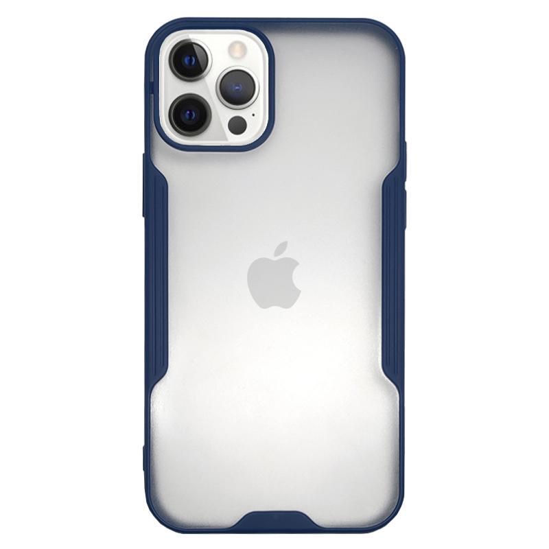 Funda Ahumado Slim Azul <br>iPhone 12/12 Pro